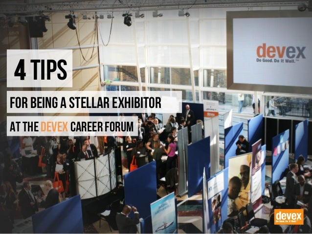 Four Tips for Being a Stellar Exhibitor at the Devex Career Forum