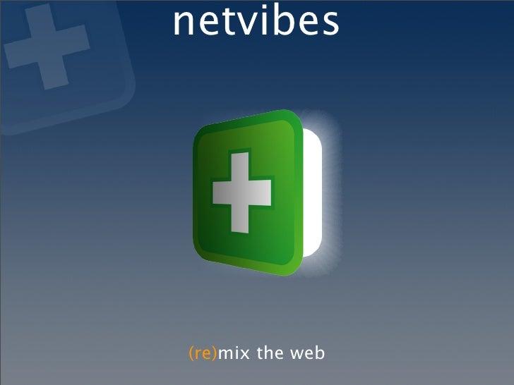 Fowa 2007  Netvibes  Remix The Web