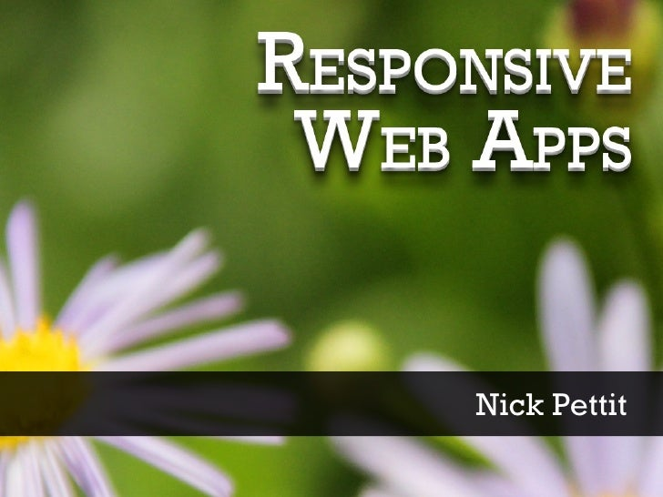 Responsive Web Apps