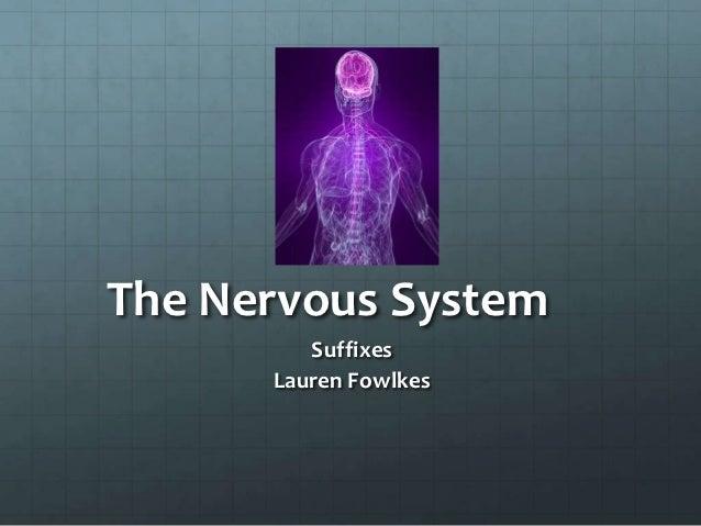 The Nervous System         Suffixes      Lauren Fowlkes
