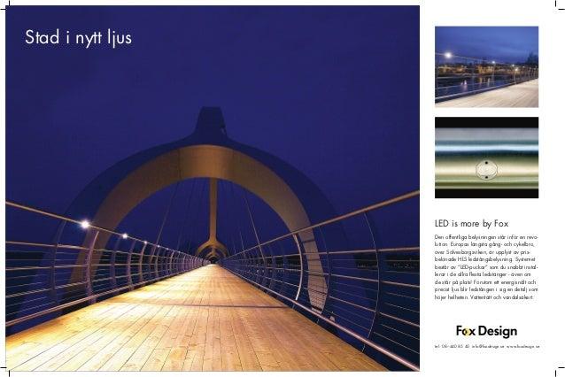 Fox Design annons i tidskriften STAD (tidigare Movium) LED-belysning