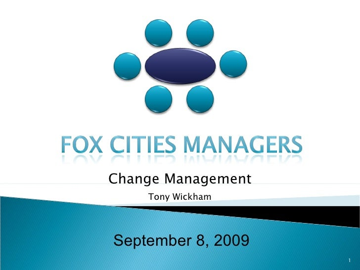 September 8, 2009 Change Management Tony Wickham