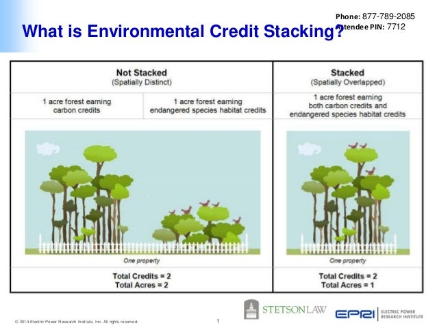 Phone: 877-789-2085 Attendee PIN: 7712  What is Environmental Credit Stacking?  © 2014 Electric Power Research Institute, ...