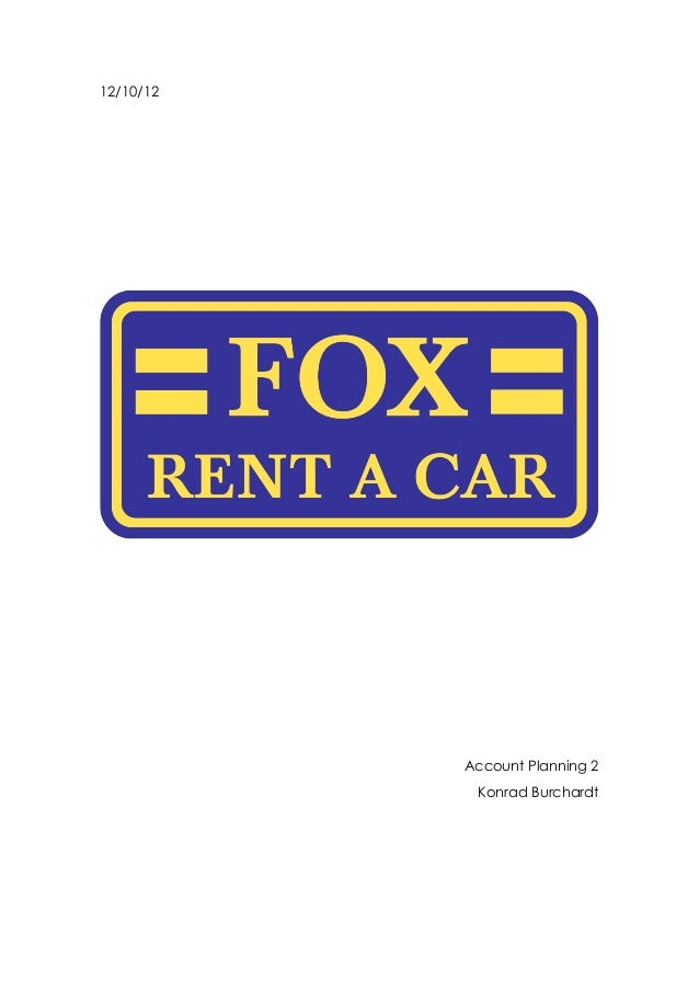 Fox Rent A Car Rebranding Strategy Doc