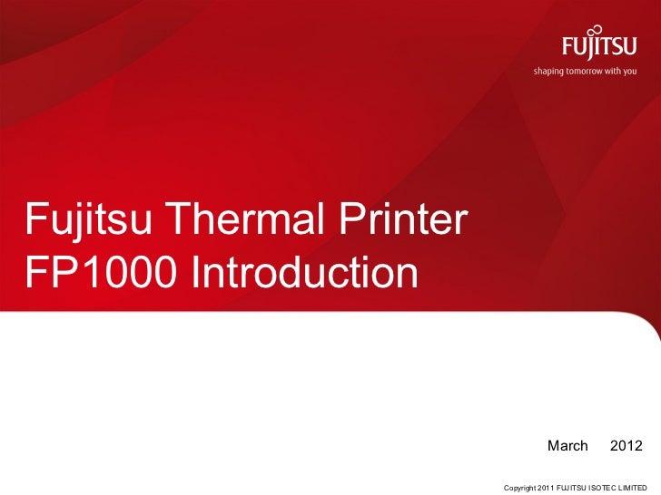 Fujitsu POS Printer: FP-1000 series
