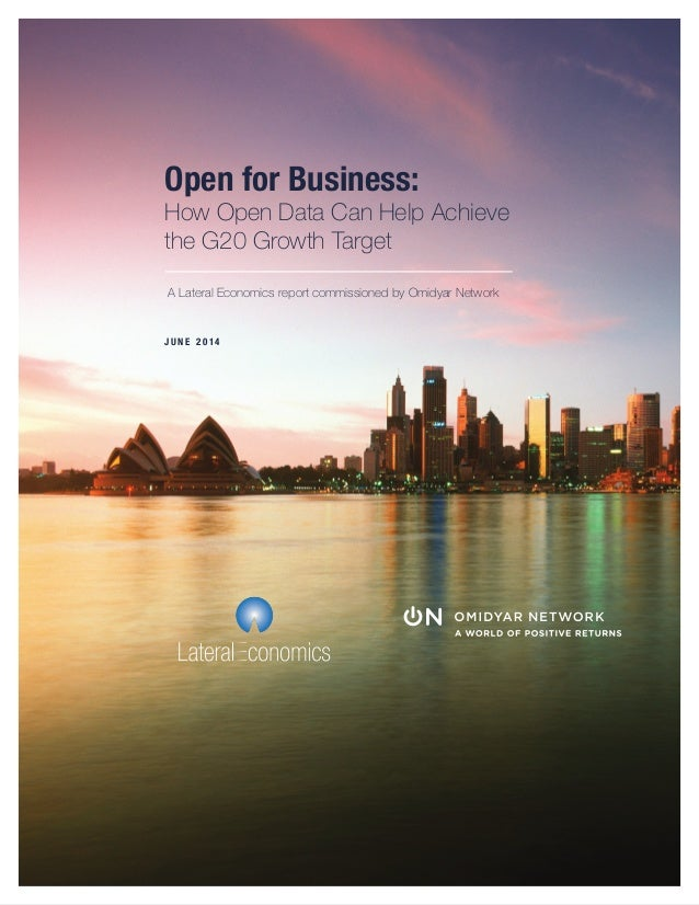 Open for Business: How Open Data Can Help Achieve  the G20 Growth Target