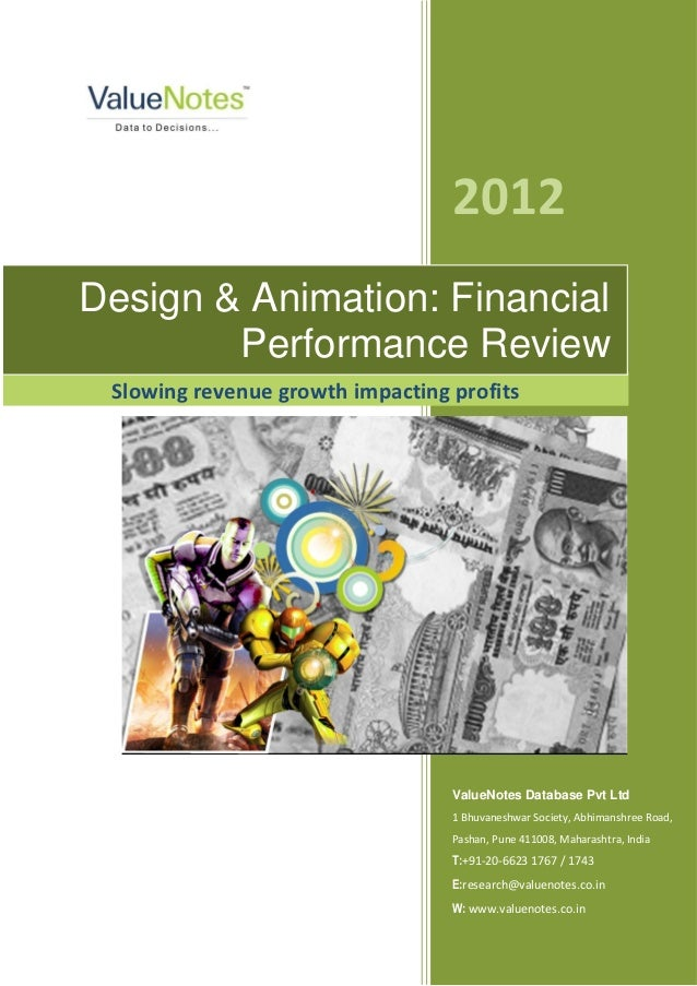 Design and Animation: Financial Performance Review