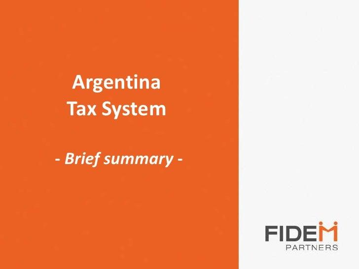 ArgentinaTaxSystem - Briefsummary- <br />