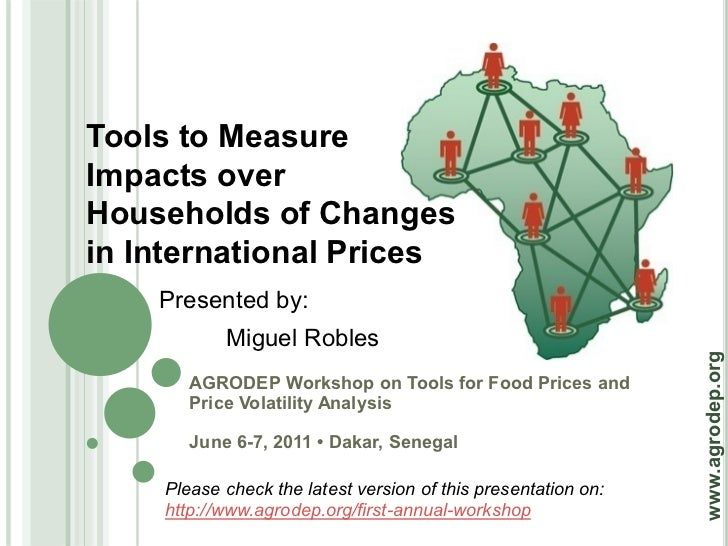 Tools to MeasureImpacts overHouseholds of Changesin International Prices    Presented by:           Miguel Robles         ...