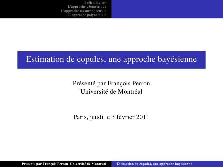 Estimation de copules, une approche bayésienne