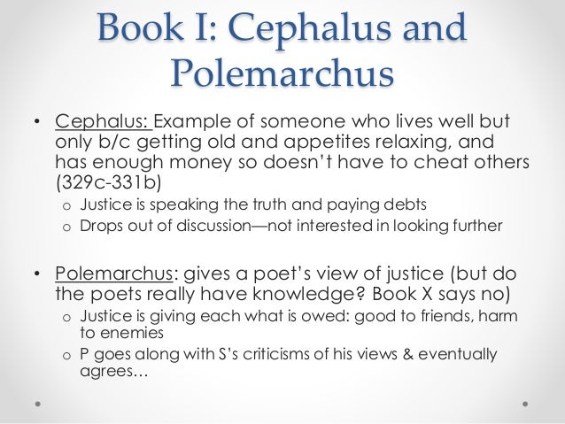 polemarchus and socrates view on justice and common good