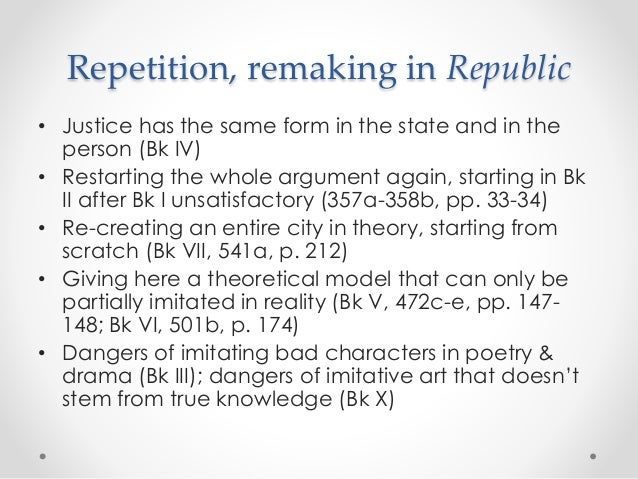 plato republic Explore why plato's republic, more than 2,000 years after its appearance, remains astonishingly relevant in its own right as it addresses questions such as: what sort.