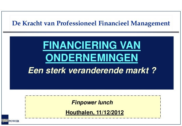Fp lunch ondernemingsfinanciering