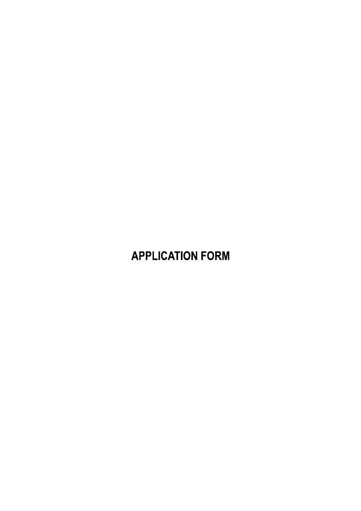 Fpm Application Form