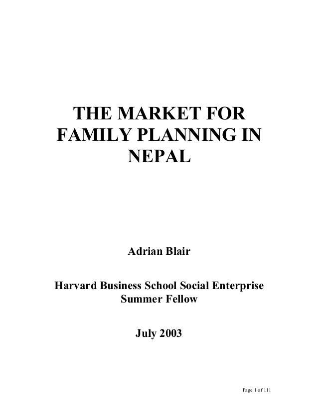 Social Marketing Analysis for PSI Nepal