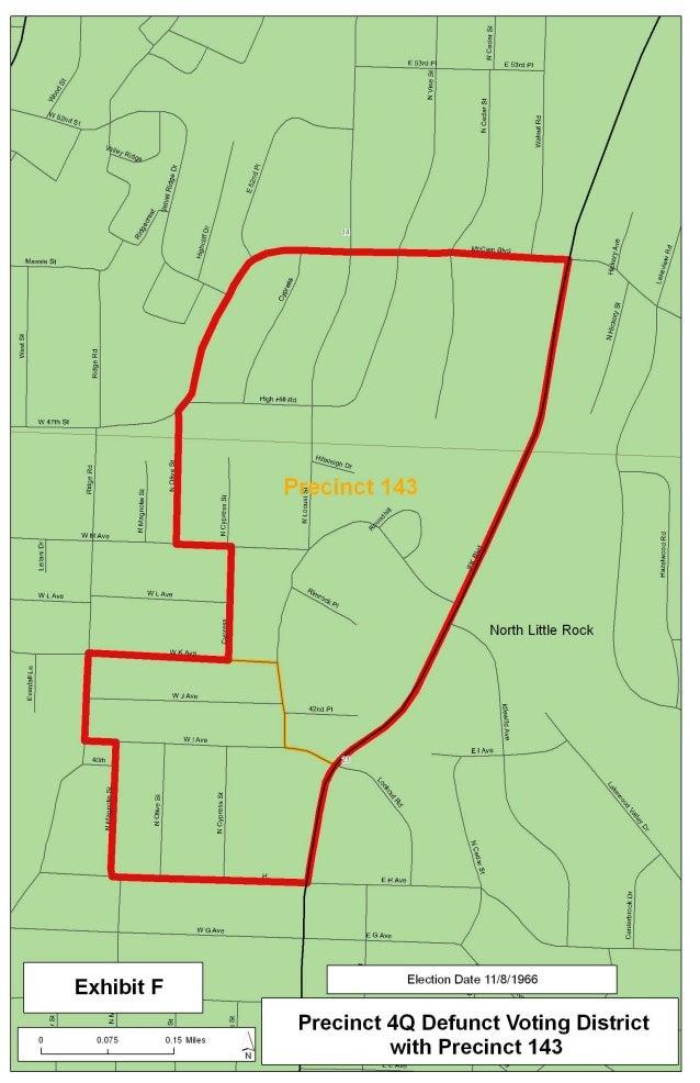 F precinct 4 q defunct voting district map
