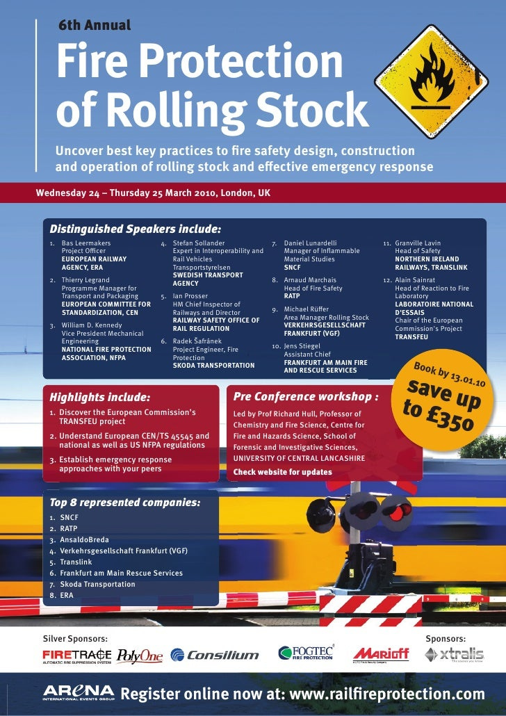 Fire Protection of Rolling Stock Conference