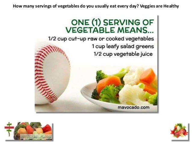 How many servings of vegetables do you usually eat every day? Veggies are Healthy