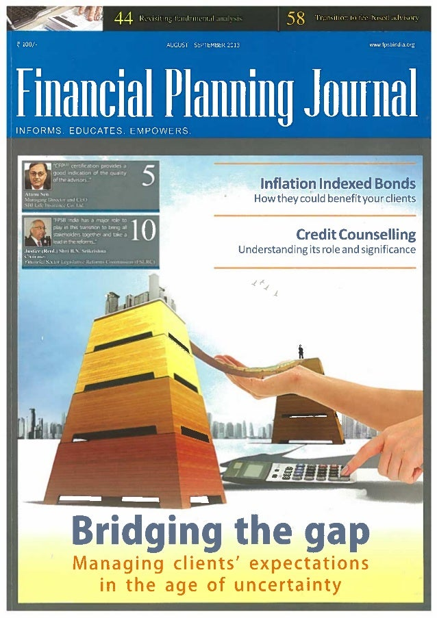 Sourajit Aiyer - Financial Planning Standards Board Journal - Transition to Fee Based Advisory Model - India, Dec 2013