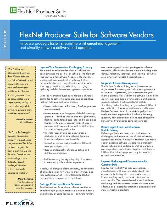 FlexNet Producer Suite for Software Vendors