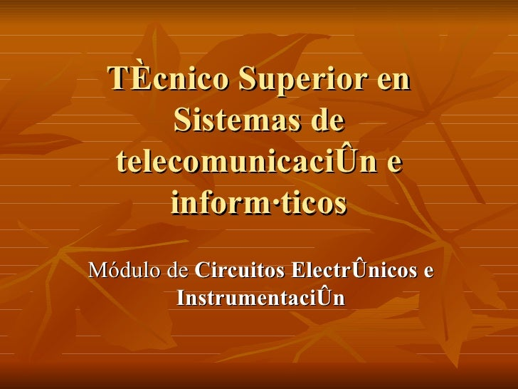 Fp Sistemas Telecomunicacion e Informatica