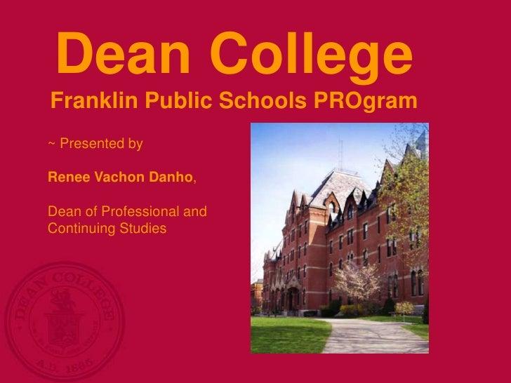 Franklin Public Schools - PROgram