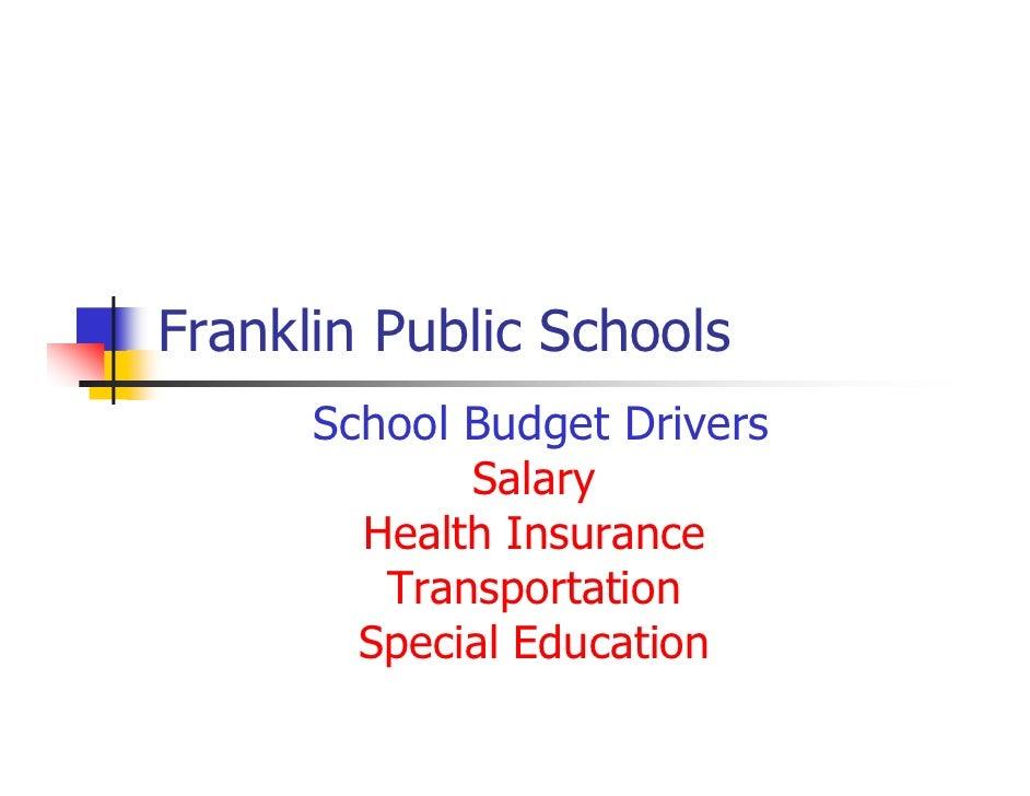 FPS - Understanding the Budget 1/25/10