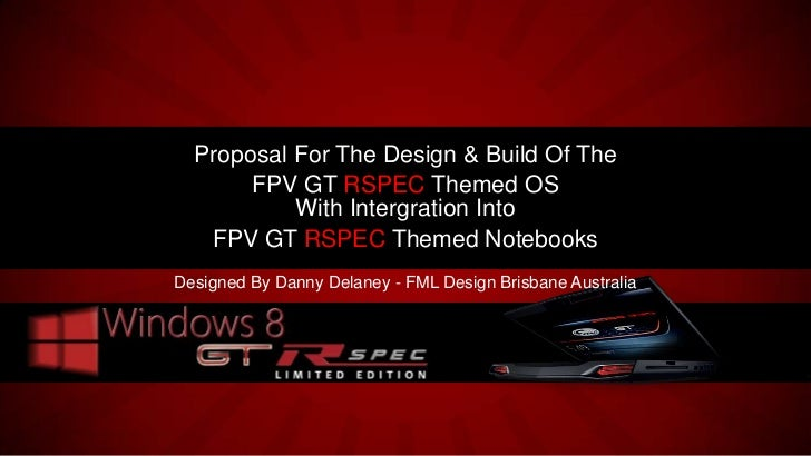 FPV GT RSPEC Themed Notebook and Modified Windows 8 GT RSPEC OS