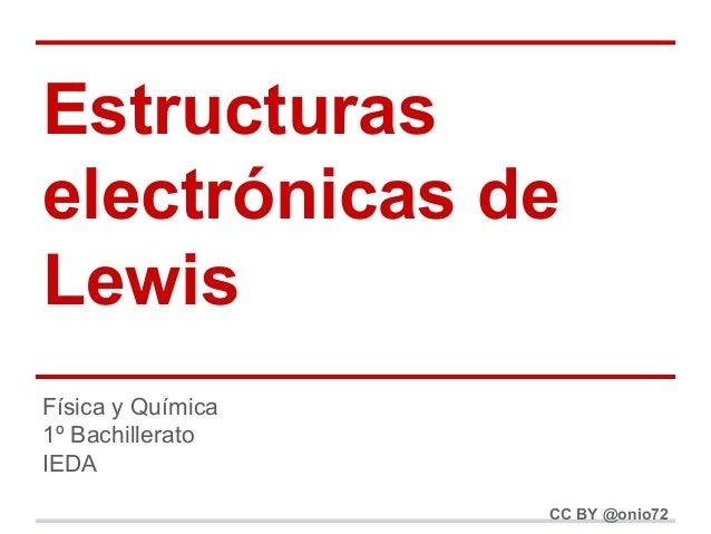 Estructuras electrónicas de Lewis Física y Química 1º Bachillerato IEDA CC BY @onio72