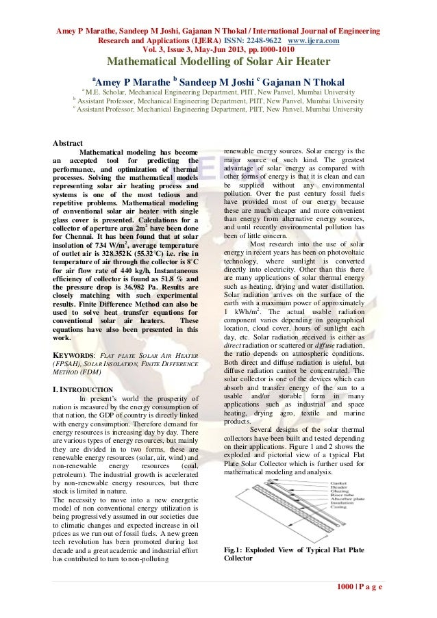 Amey P Marathe, Sandeep M Joshi, Gajanan N Thokal / International Journal of EngineeringResearch and Applications (IJERA) ...