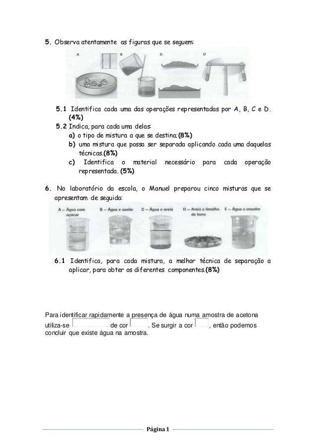 Página1 5. Observa atentamente as figuras que se seguem: 5.1 Identifica cada uma das operações representadas por A, B, C e...