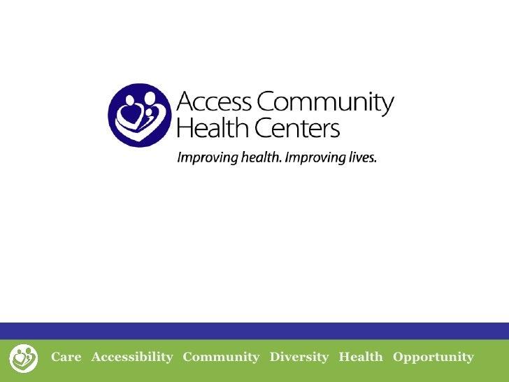 Access CHC Cornerstones of Care