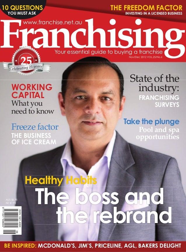 Franchising Magazine Nov/December 2012
