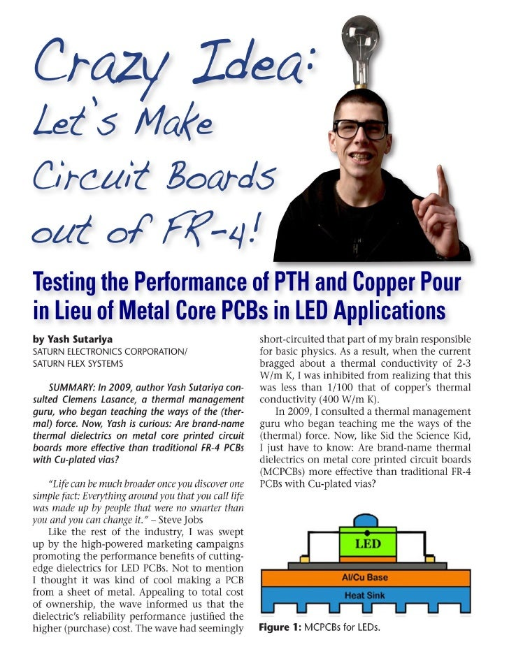 FR-4 PCBs for LED Applications: Testing Performance of PTH and Copper Pour Instead of MCPCBs