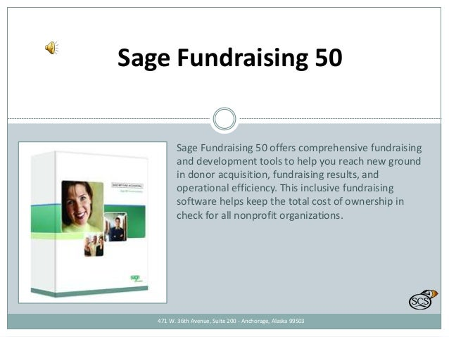 Sage Fundraising 50 Sage Fundraising 50 offers comprehensive fundraising and development tools to help you reach new groun...