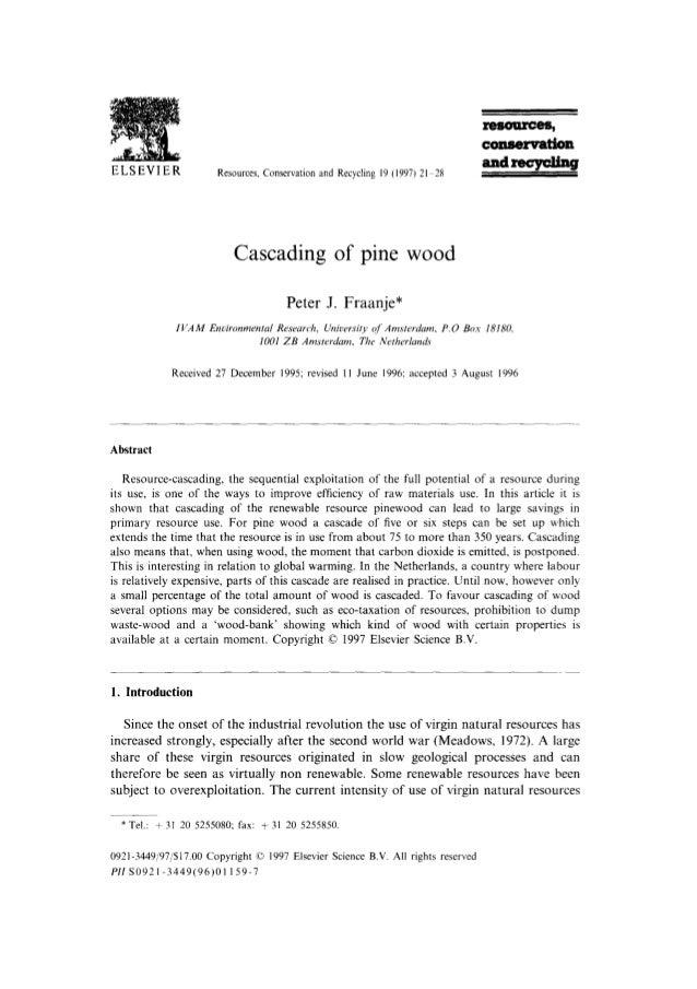 Fraanje (1997)   Cascading of Pine Wood