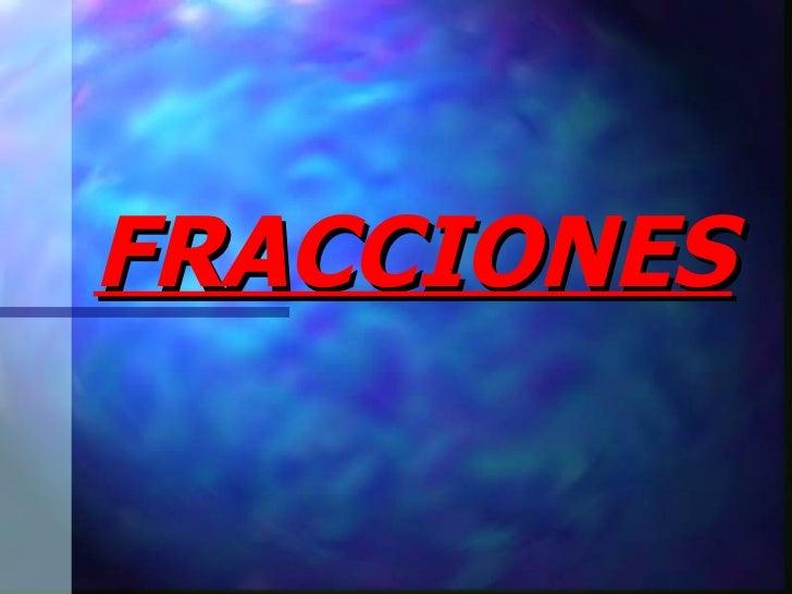 Fracciones 1ESO