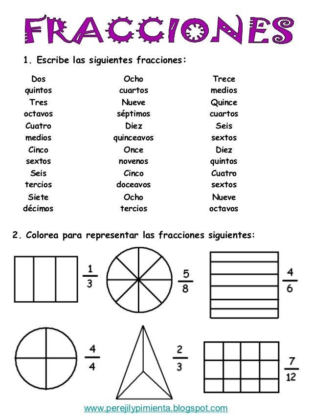 Fracciones 4º primaria t6