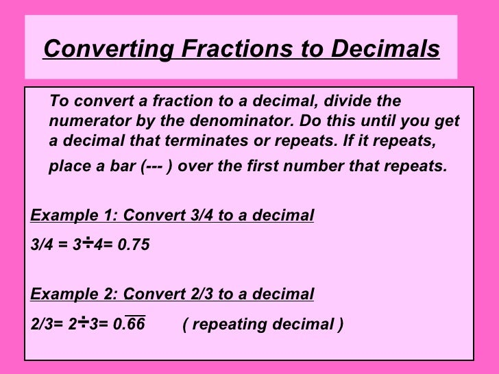 How do you put fractions into opposite fractions?