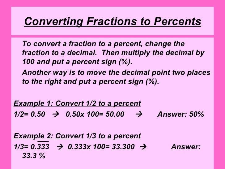 Number Names Worksheets : convert percent to fraction worksheet ...