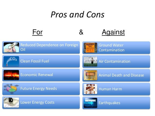 Pros And Cons Of Oil And Natural Gas