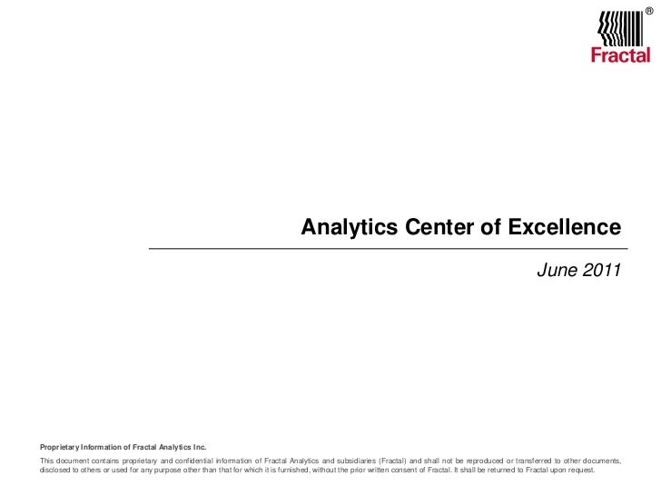 Analytics Center of Excellence<br />June 2011<br />
