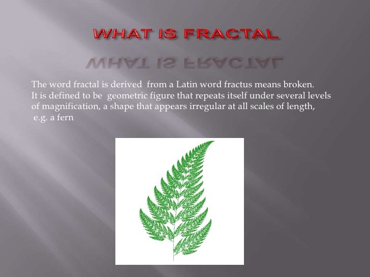 Use of the word 'fractal' in regards to an abstract idea?