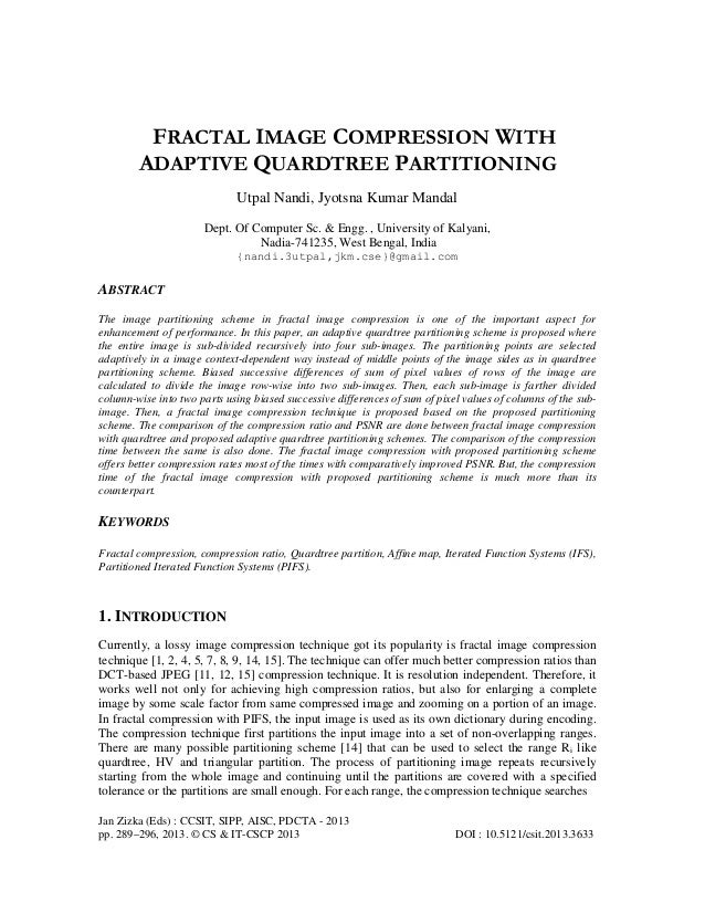 Jan Zizka (Eds) : CCSIT, SIPP, AISC, PDCTA - 2013 pp. 289–296, 2013. © CS & IT-CSCP 2013 DOI : 10.5121/csit.2013.3633 FRAC...
