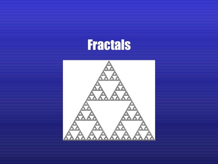 Fractals Notes