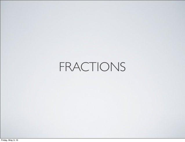 Fraction flipchart