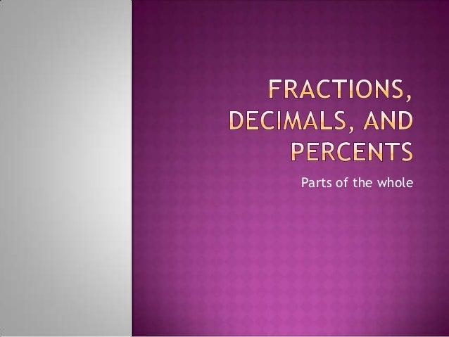 Fractions decimals-and-percents