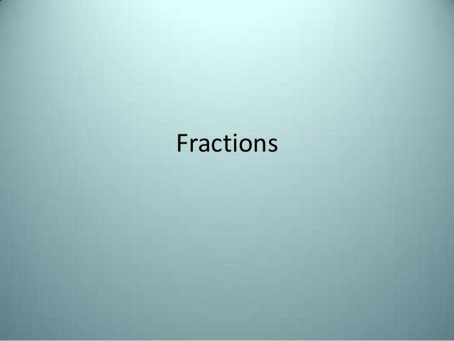 Fractions Work