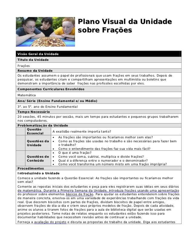Plano Visual da Unidade                                       sobre FraçõesVisão Geral da UnidadeTítulo da UnidadeFraçõesR...