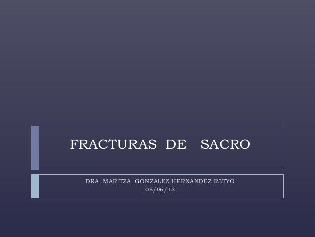 FRACTURAS DE SACRO